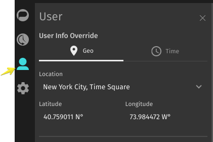 Time and Geo Override Selector