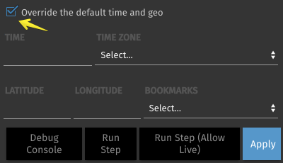 Stories Step Revision Override Selector