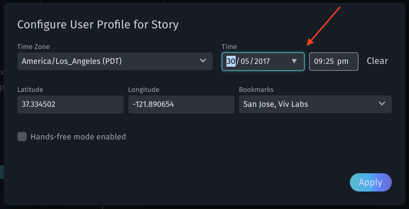 User Profile Picker